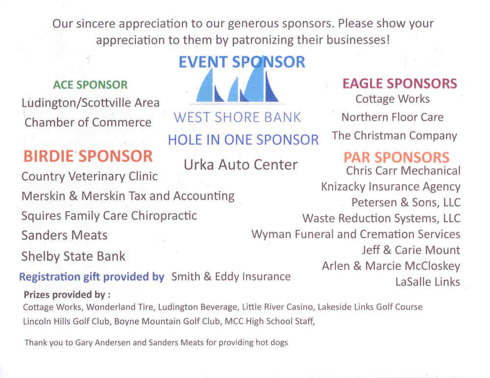 31st Golf Outing Sponsors