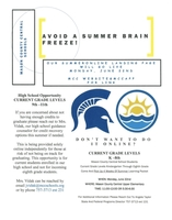Summer Learning Opportunity for Students