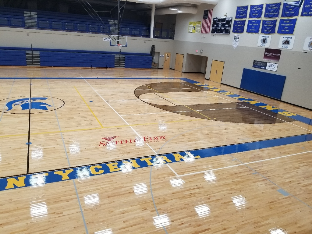 High School Gym floor resurface project is complete!!