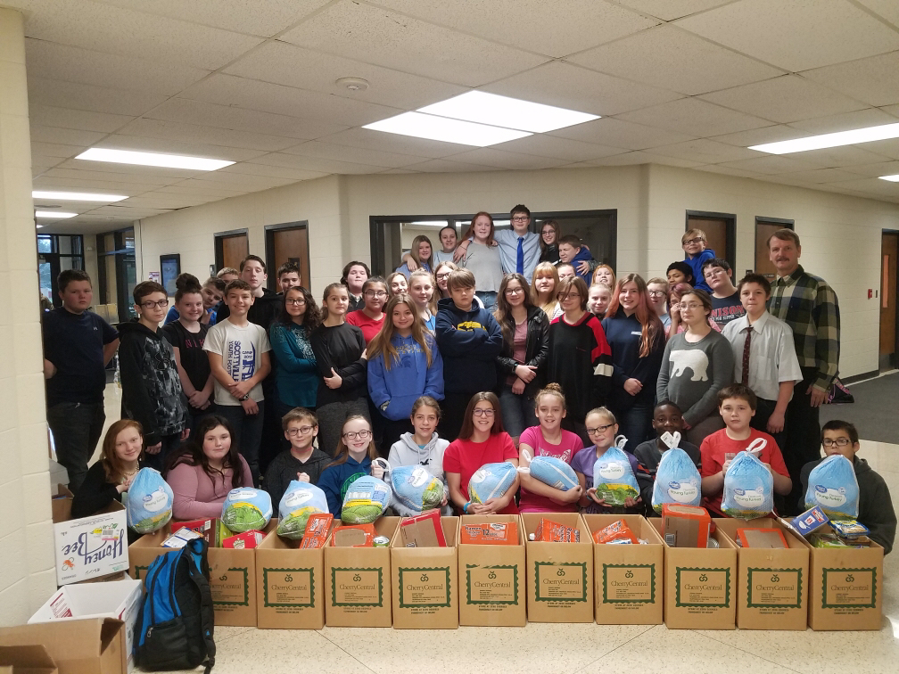 Stand Students Help collects for local families in need.